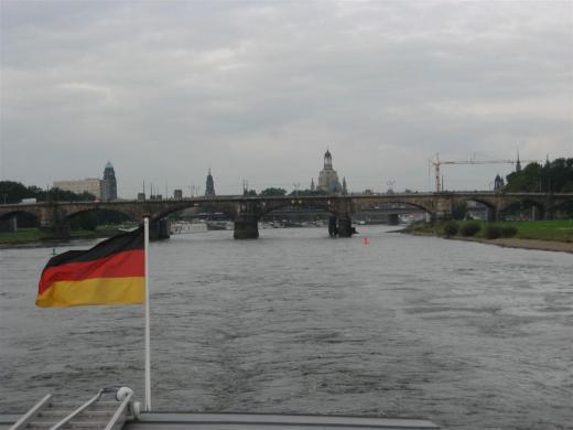 Die Albertbrücke in Dresden