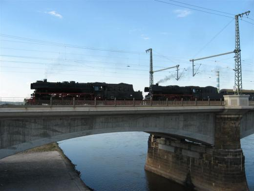 Die Marienbrücke mit den Lok's 35 1097 und 35 1019