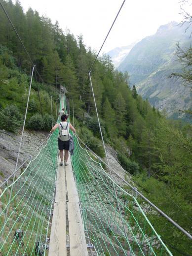 Hängebrücke in der Schweiz