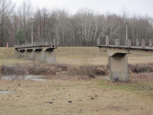 Neißebrücke in Forst, zerstört 1945