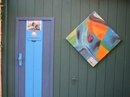 Künstler-Tür in Rothenburg o. T.