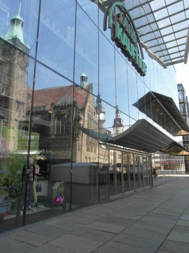 Eingang Galeria Kaufhof Rathausspiegelung