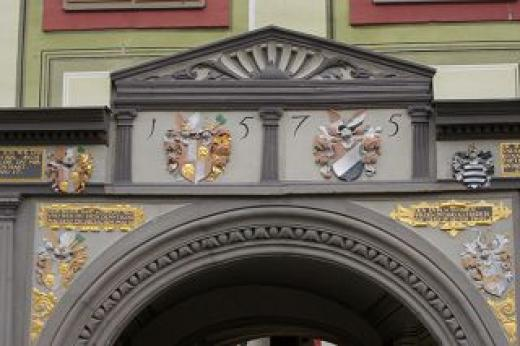 Portal auf Schloss Weesenstein