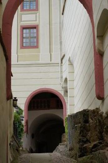 Torbögen auf Schloss Weesenstein