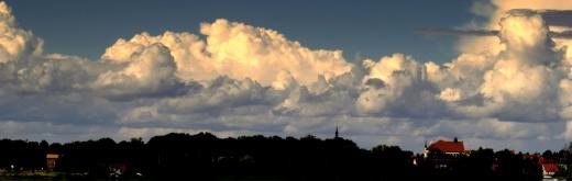 Panorama Wolken über Brandis