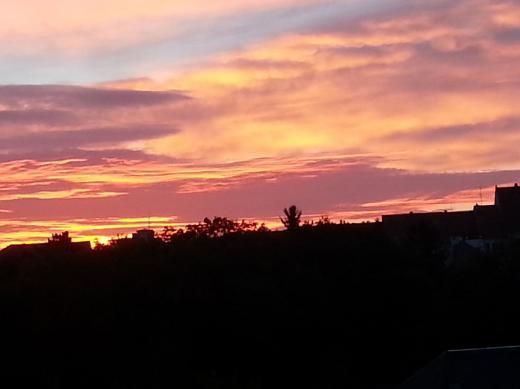 Sonnenaufgang über Dippoldiswalde