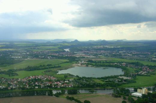 Blick über Pirna zur