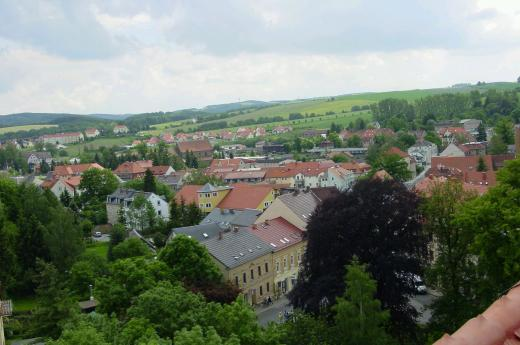 Blick vom Dippser Schloßturm
