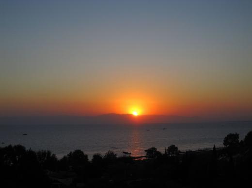 Sonnenuntergang über dem Taurusgebirge