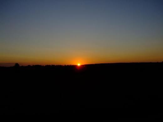 Sonnenaufgang im Erzgebirge