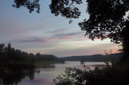 Sonnenaufgang an der Talsperre Malter 1
