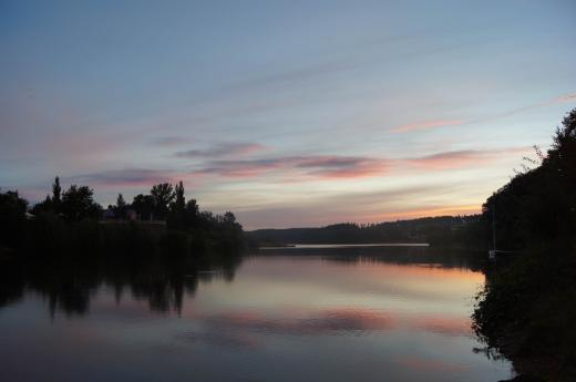 Sonnenaufgang an der Talsperre Malter 2