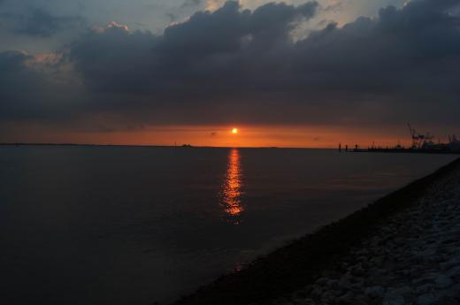 Sonnenuntergang an der Nordsee 2