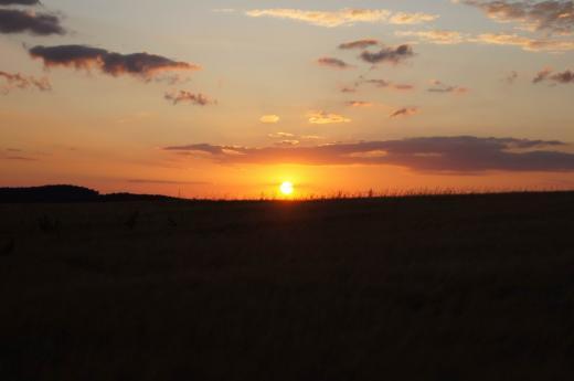 Sonnenuntergang über Dippoldiswalde 1