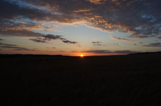 Sonnenuntergang über Dippoldiswalde 2