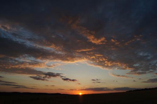 Sonnenuntergang über Dippoldiswalde 3