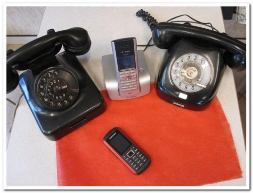 Telefon im Wandel der Zeit.